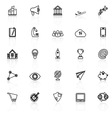 Startup business line icons with reflect on white vector image vector image