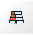Stepladder icon colored line symbol premium