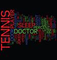 tennis jokes text background word cloud concept vector image vector image