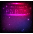 The inscription Christmas party in neon style vector image vector image