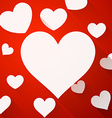 Valentines card with white hearts vector image vector image