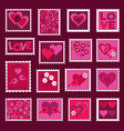 Valentines Day Stamps vector image vector image