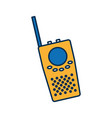 walkie talkie icon vector image vector image