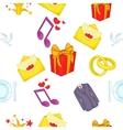 Wedding celebration pattern cartoon style vector image vector image