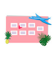 weekly planner with place for notes vector image