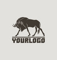 wildebeest logo sign isolated vector image