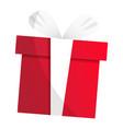 xmas gift box icon cartoon style vector image vector image