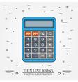 Calculator thin line design vector image