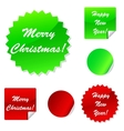 Set of sticky web icons in red and green for your vector image