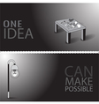 One idea can make possible vector image