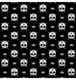seamless with skulls vector image