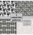 4 animal skin patterns set vector image