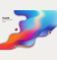 abstract colorful 3d fluid shape flowing vibrant vector image