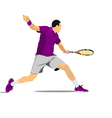 al 1009 tennis 03 vector image vector image