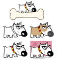 Angry Dog Bull Terrier Collection vector image vector image