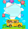 back to school design notebook vector image