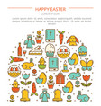 banner easter with your text vector image vector image
