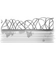 barbed wire and fence vector image