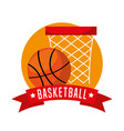 basketball sport emblem icon vector image vector image