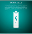 battery icon isolated on blue background vector image vector image