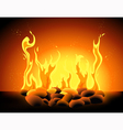 Blazing flame vector image vector image