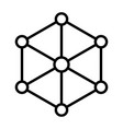 blockchain node line icon minimal pictogram vector image