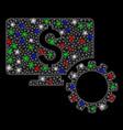 bright mesh network financial monitoring options vector image vector image