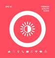brightness symbol icon graphic elements for your vector image vector image