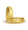 broken wedding rings vector image vector image