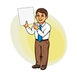 Businessman with paper vector image