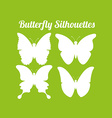 butterfly silhouettes design vector image