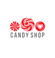candy shop logo vector image