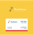 celebrations drink logo design with business card vector image vector image