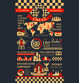 chess game infographic poster with play pieces vector image vector image