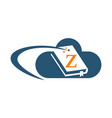 cloud ebook solutions initial z vector image vector image