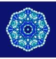 Cold floral mandala vector image vector image