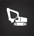 construction truck on black background vector image