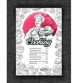 Cooking cuisine Design menu restaurant or cafe vector image vector image