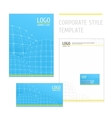 Corporate style template grid blue vector image vector image