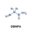 dbnpa or dibromonitrilopropionamide vector image