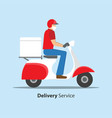 delivery during covid-19 coronavirus concept man vector image vector image