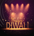 diwali background with spotlights 2109 vector image vector image