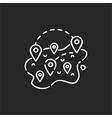 domestic tourism chalk white icon on black vector image