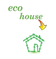 eco house green art vector image vector image