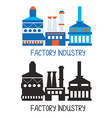 Factory icon for logo or design element vector image vector image