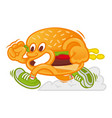 fast food burger vector image vector image