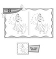 find 9 differences game dance woman vector image vector image
