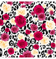 floral textured animal pattern vector image vector image