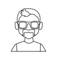 geek man with glasses vector image vector image