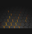 glowing hexagonal background vector image